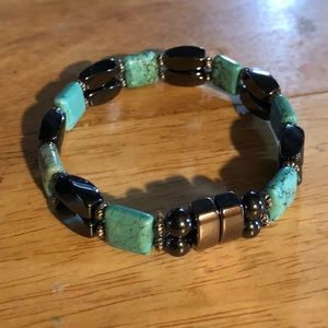 Jewelry - Hematite turquoise magnetic therapy bracelet